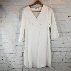 White Linen Athleta Dress Swim Cover Lanai XS